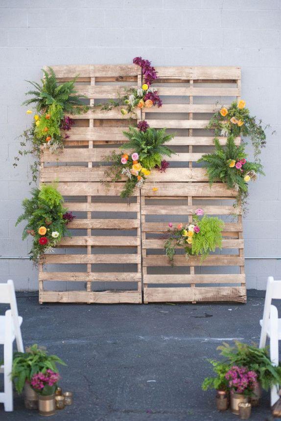 photocall palés y flores