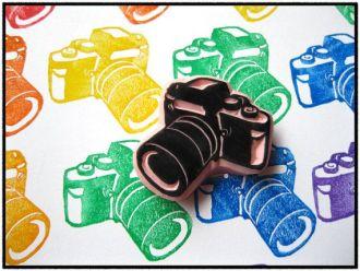 sello scrapbooking cámara de foto