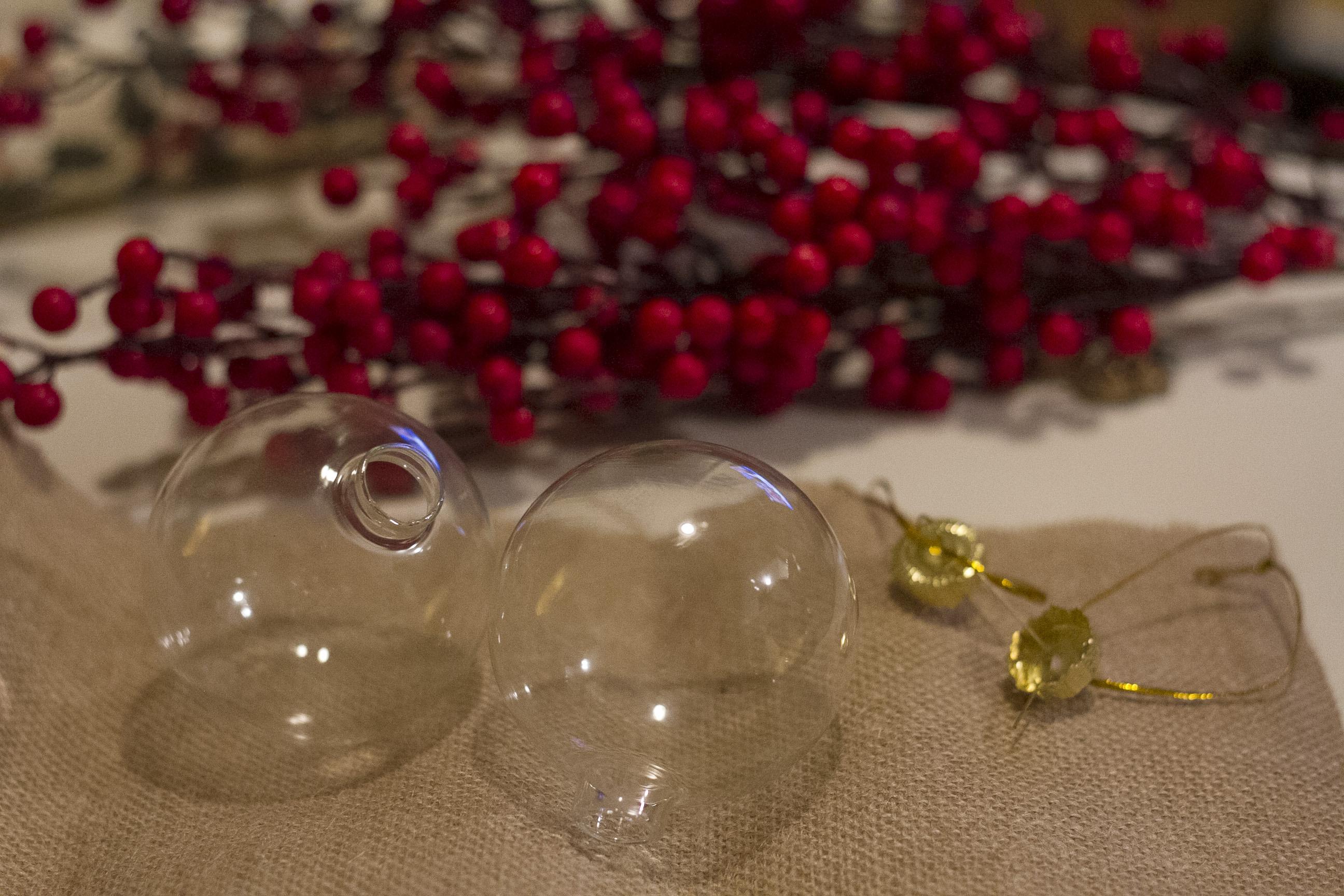 Navidad diy c mo decorar las bolas de rbol de manera - Bolas transparentes para decorar ...